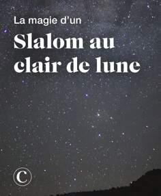 La magie d'un slalom au clair de lune