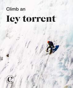 Climb an icy torrent