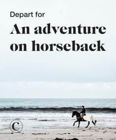 Depart for an adventure on horseback