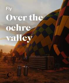 Fly over the ochre valley