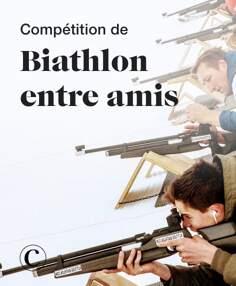 Compétition de biathlon entre amis