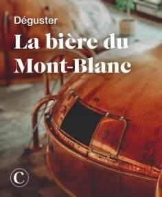 Déguster la bière du Mont-Blanc