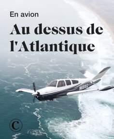 En avion au dessus de l'Atlantique