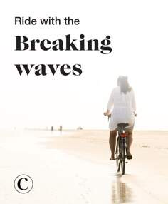 Ride with the breaking waves