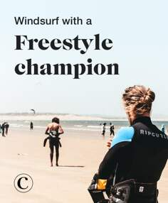 Windsurf with a freestyle champion