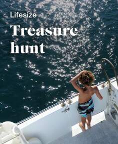 Lifesize treasure hunt