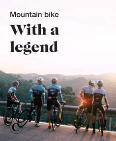 Mountain bike with a legend